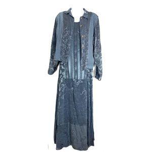 Citron Santa Monica Blue Gray Dress & Coat XS/S